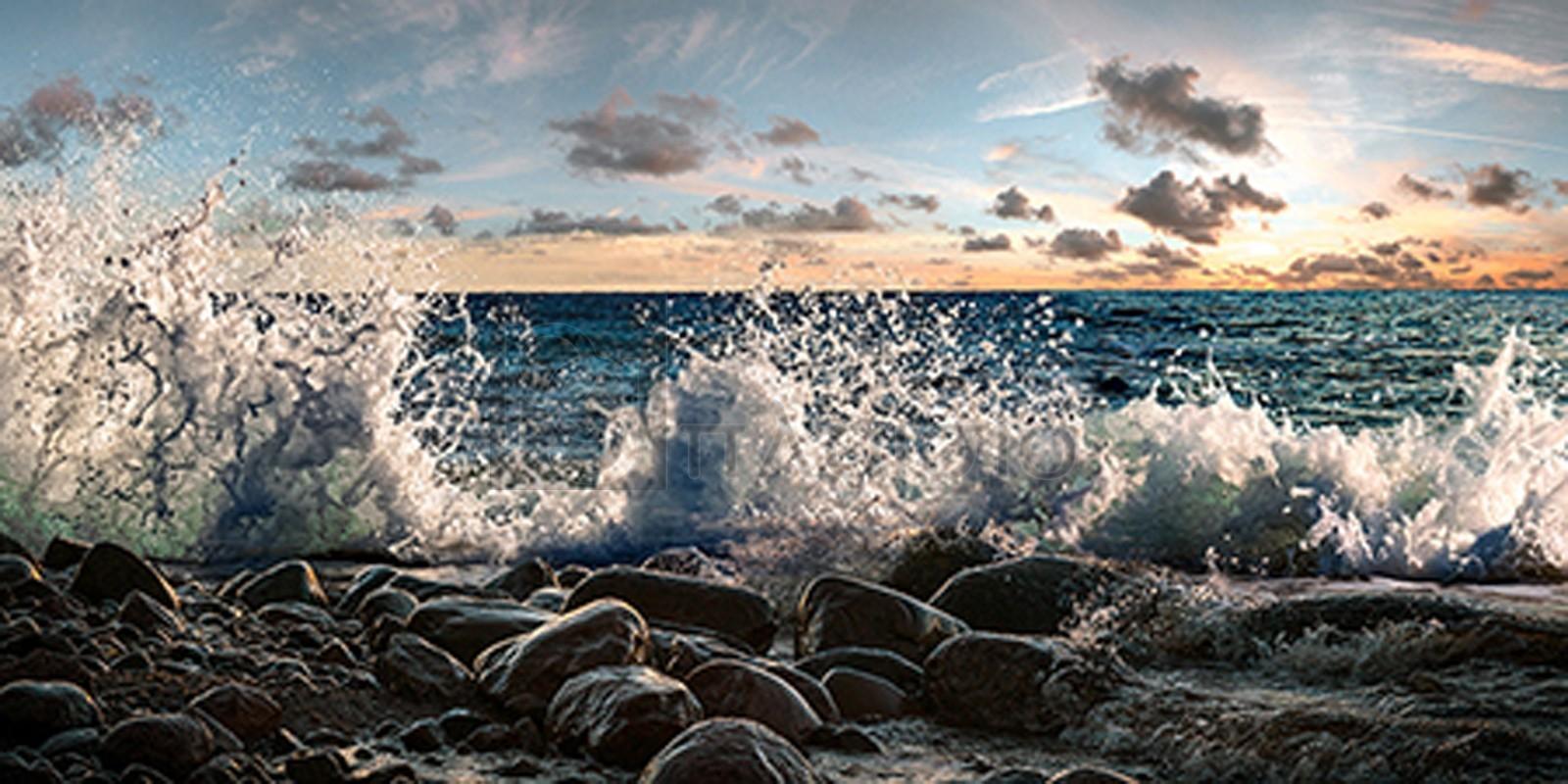 Pangea Images - Waves crashing, Point Reyes, California (detail)