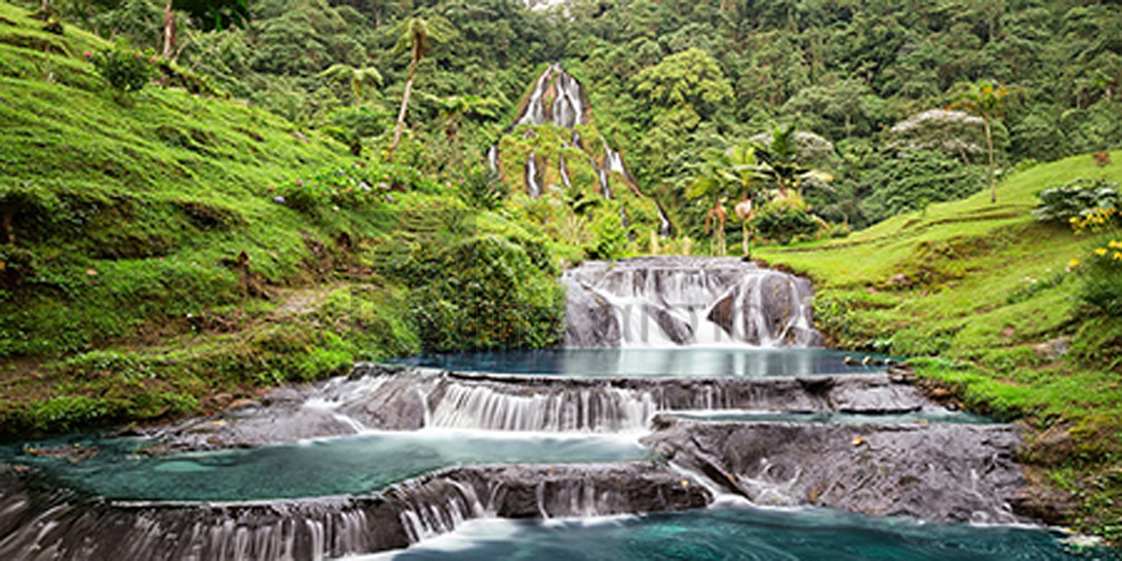 Pangea Images - Waterfall in Santa Rosa de Cabal, Colombia (detail)