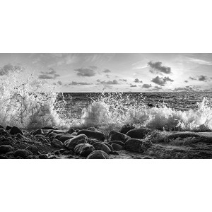 Pangea Images - Waves crashing, Point Reyes, California (detail, BW)