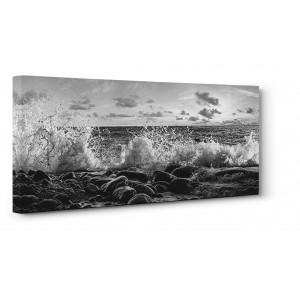Pangea Images - Waves crashing, Point Reyes, California (detail, BW)