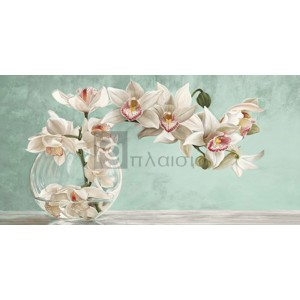 Remy Dellal - Orchid Arrangement II (Celadon)