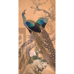 Imao Keinenimao Keinen - A Pair of Peacocks in Spring