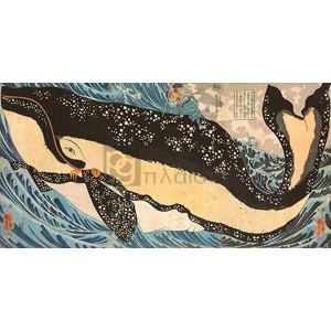 Kuniyoshi Utagawa - Miyamoto No Musashi Attacking the Giant Whale