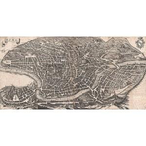 Matthaus Merian - Panoramic View of Rome, 1640