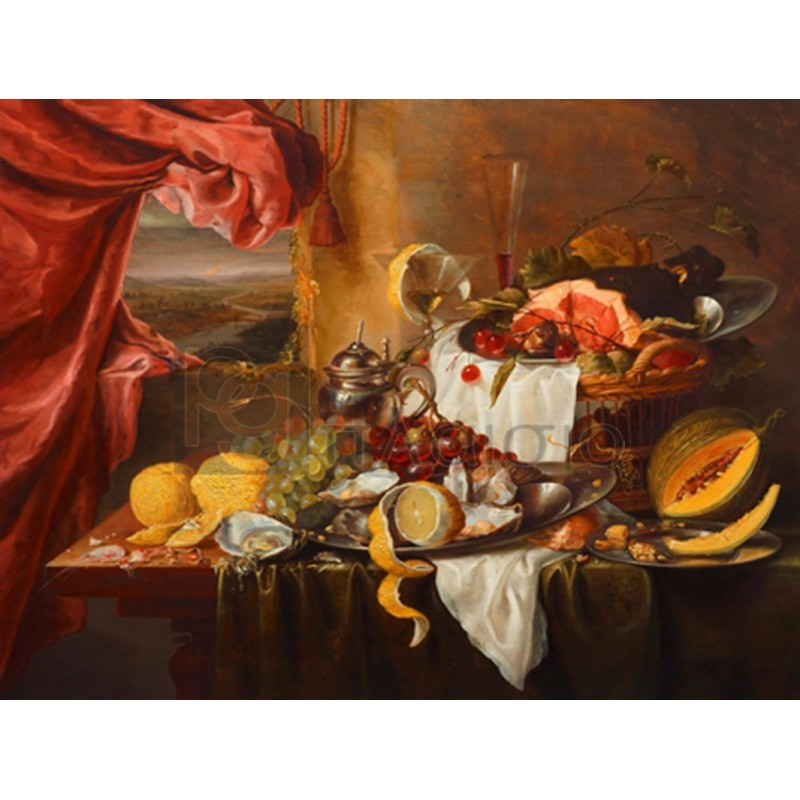 Craen Laurens - Still life with imaginary view