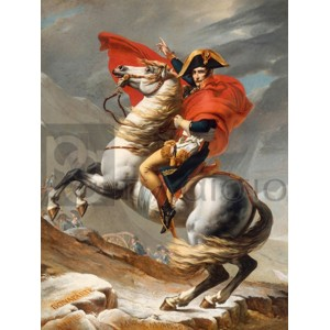 Jacques-Louis David - Bonaparte franchissant le Grand Saint-Bernard