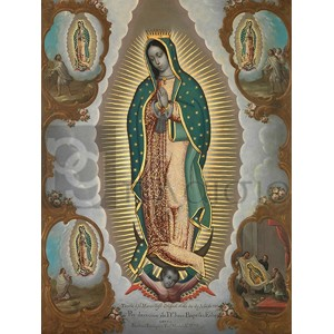 Nicolas Enriquez - The Virgin of Guadalupe with the Four Apparitions