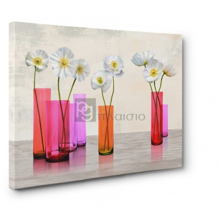 Cynthia Ann - Poppies in crystal vases (Purple palette)