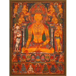 Anonymous - Buddha Ratnasambhava with Wealth Deitie