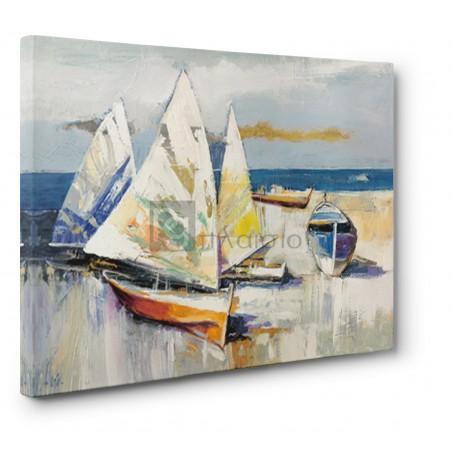 Luigi Florio - Barche sulla spiaggia