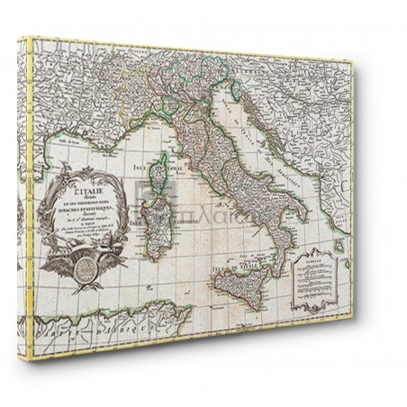 Robert Janvier - Map of Italy, 1770