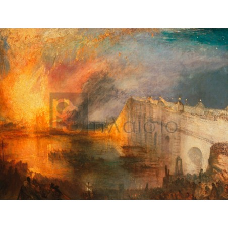 William Turner - The Burning of the Houses of Lords and Commons