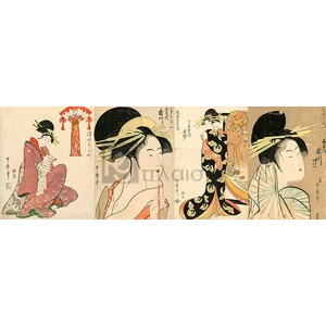 Utamaro Kitagawa - A Selection of Beautiful Women