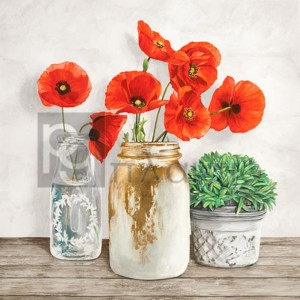 Jenny Thomlinson - Floral composition with Mason Jars II