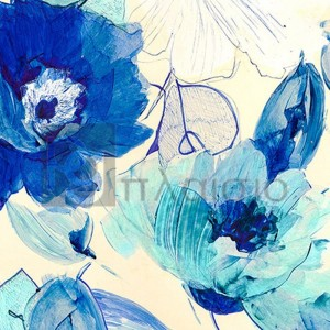 Kelly Parr - Toile Fleurs II