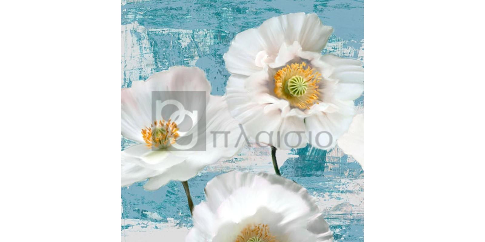 Leonardo Sanna - Washed Poppies (Aqua) I