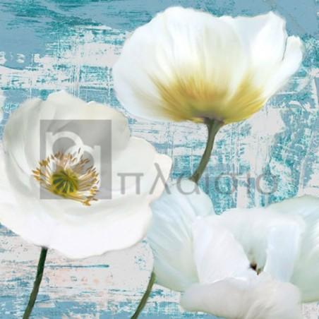 Leonardo Sanna - Washed Poppies (Aqua) II