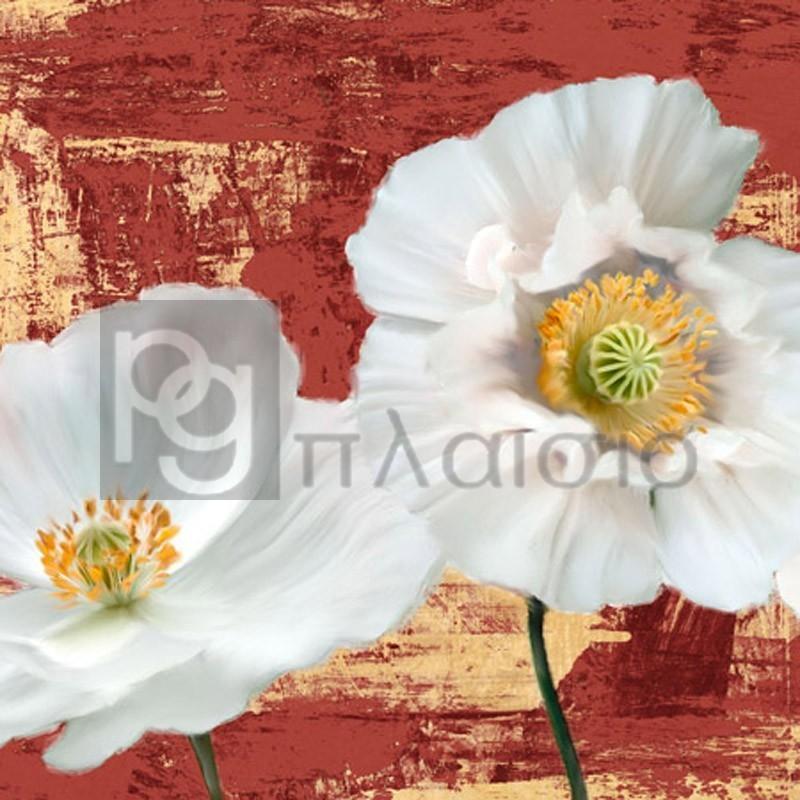 Leonardo Sanna - Washed Poppies (Red & Gold) I