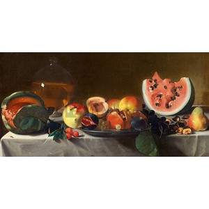 Pensionante Del Saraceni - Still Life with Fruit and Carafe