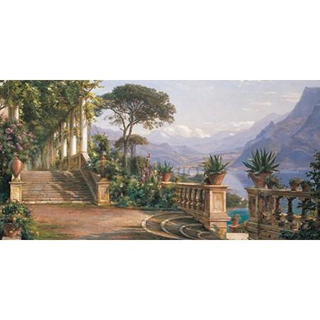 Carl Frederic Aagaard - Lodge on Lake Como