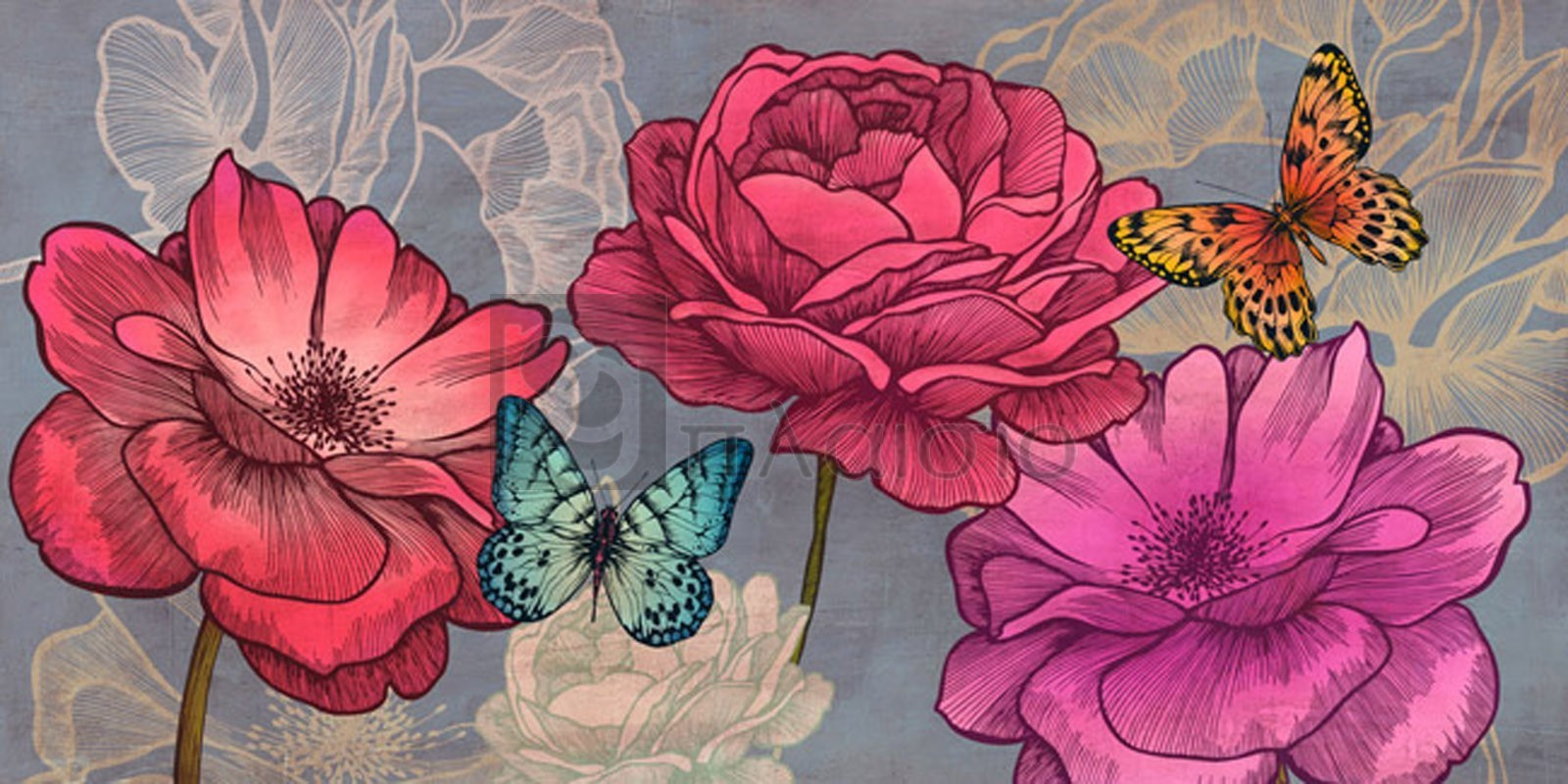 Eve C. Grant - Roses and Butterflies (Ash)