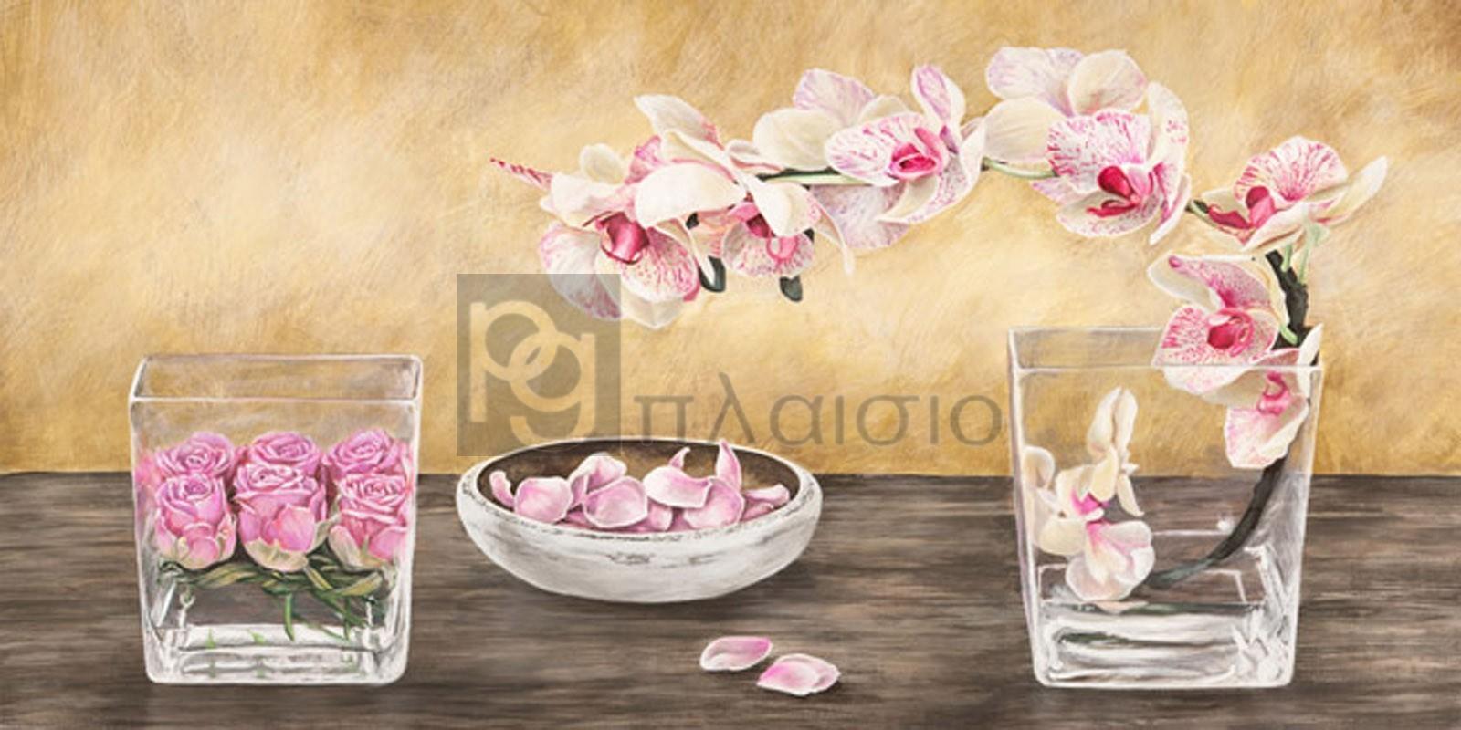 Remy Dellal - Orchids and Roses Arrangement