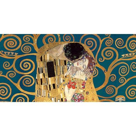 GUSTAV KLIMT - The Kiss, detail (Blue variation)
