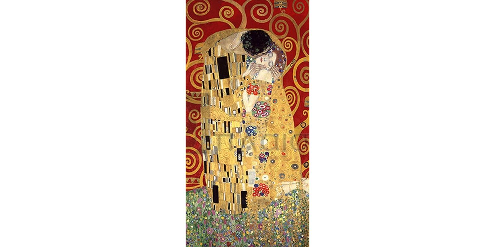 GUSTAV KLIMT - The Kiss (Red variation)