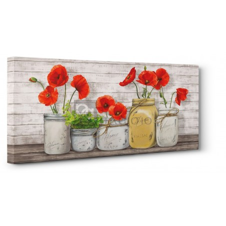 JENNY THOMLINSON - Poppies in Mason Jars