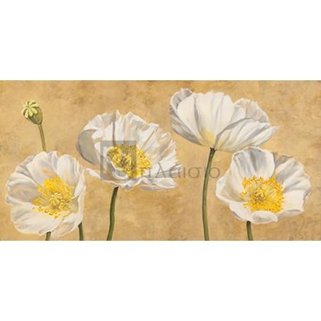 LUCA VILLA - Poppies on Gold