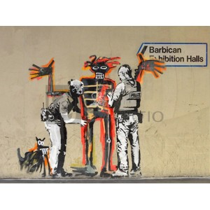 BANKSY - Outside Barbican Centre, London