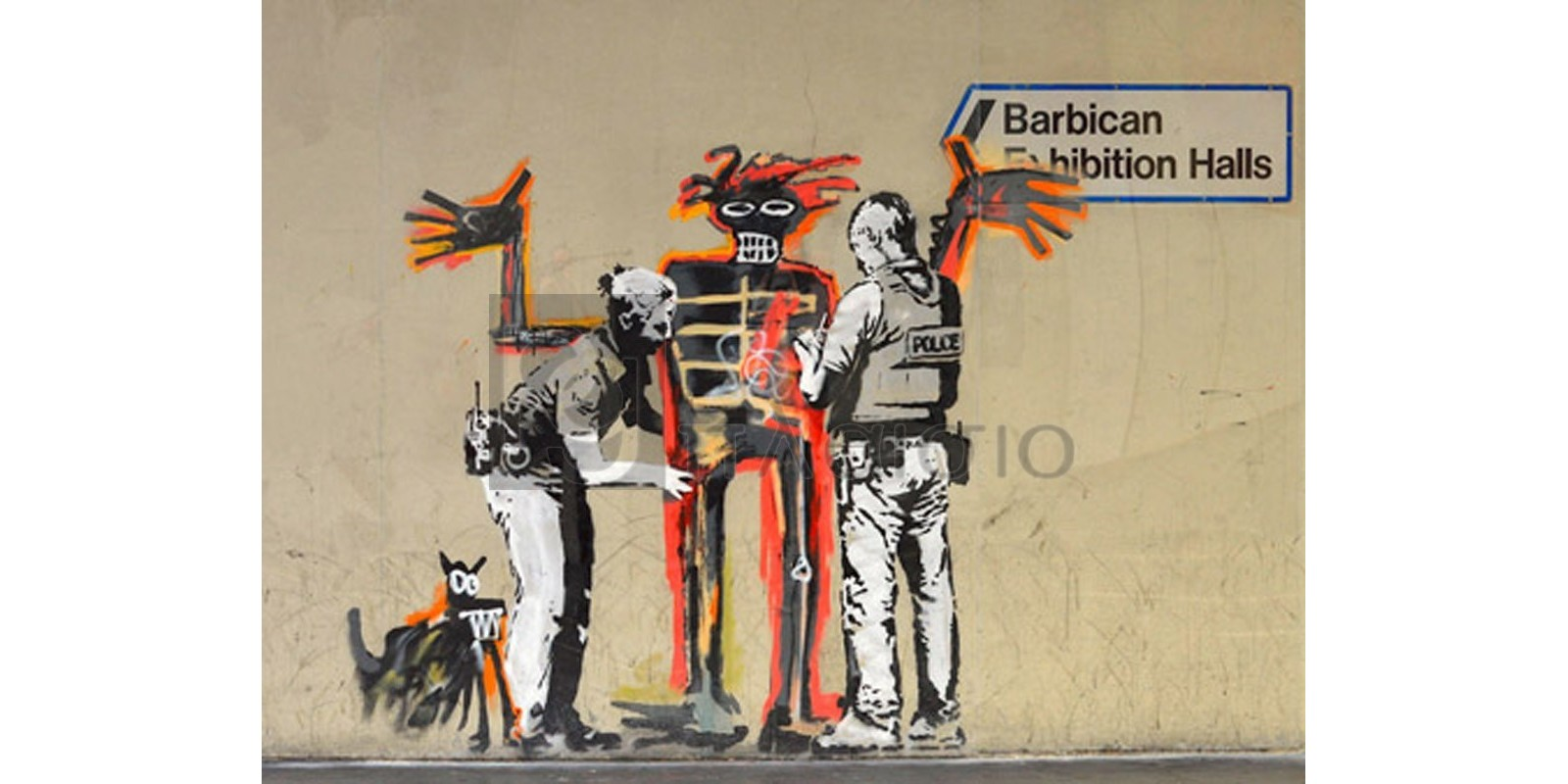 BANKSY - Outside Barbican Centre, London