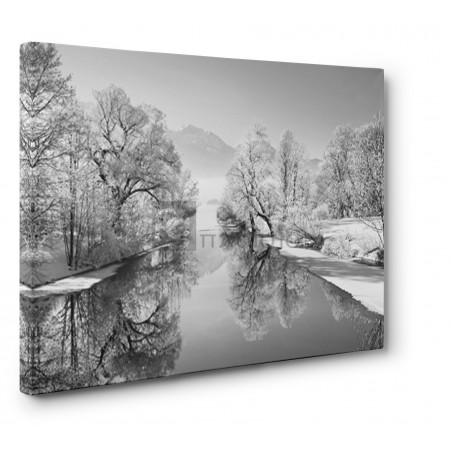 FRANK KRAHMER - Winter landscape at Loisach, Germany (BW)