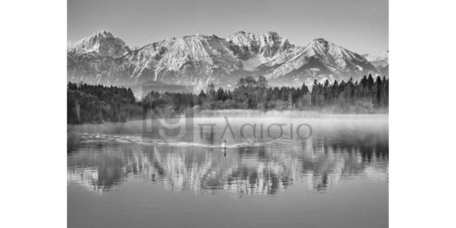 FRANK KRAHMER - Allgaeu Alps and Hopfensee lake, Bavaria, Germany (BW)