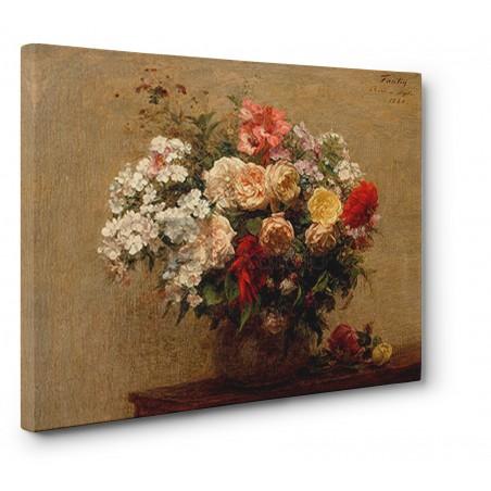 HENRI FANTIN-LATOUR - Vase with Summer Flowers