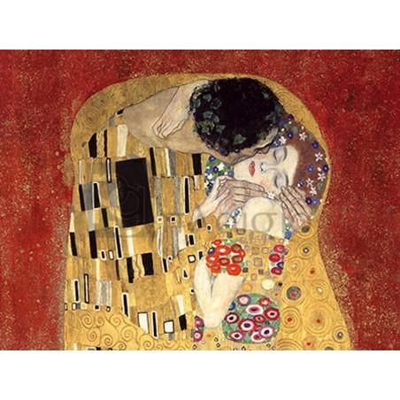 GUSTAV KLIMT - The Kiss, detail (Red variation)