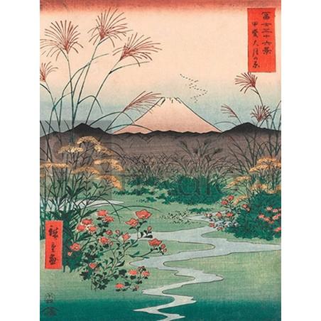 ANDO HIROSHIGE - Otsuki Plain in Kai Province