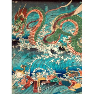 KUNIYOSHI UTAGAWA - Recovering a jewel from the palace of the dragon king II