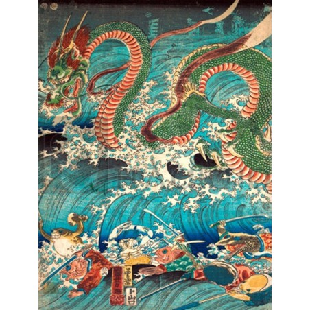 KUNIYOSHI UTAGAWA - Recovering a jewel from the palace of the dragon king II