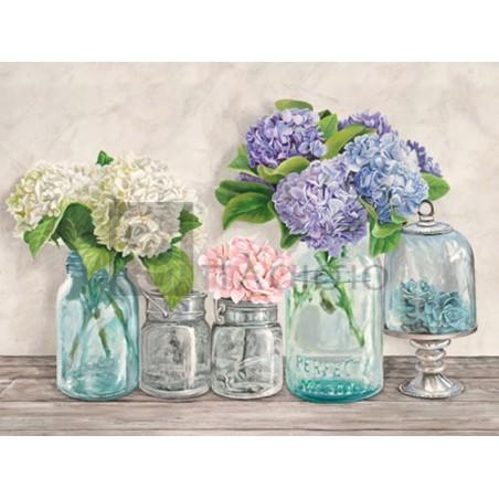 JENNY THOMLINSON - Flowers in Mason Jars (detail)