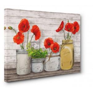 JENNY THOMLINSON - Poppies in Mason Jars (detail)