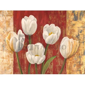 Tulips on Royal Red