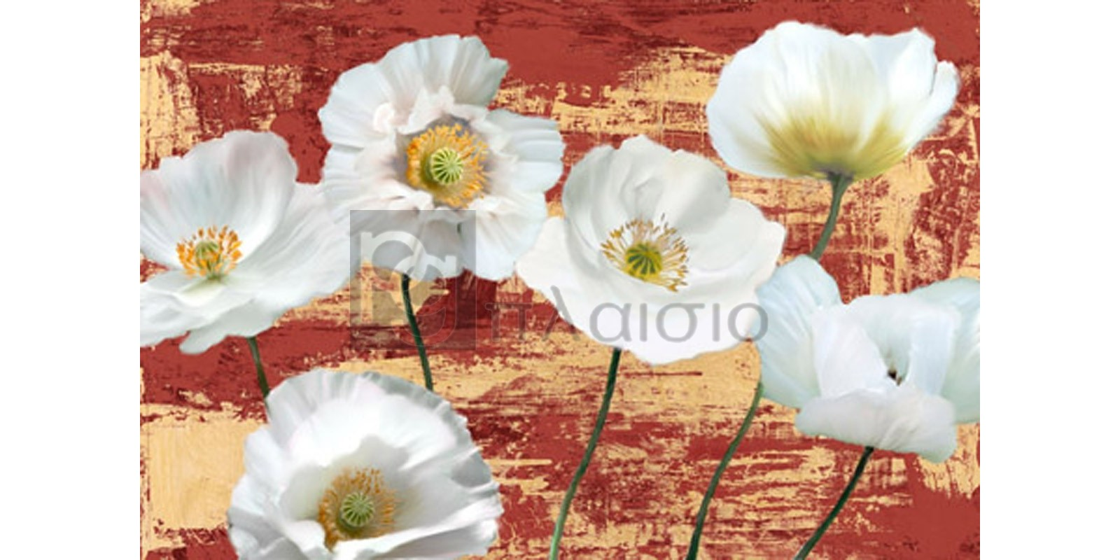 LEONARDO SANNA - Washed Poppies (Red & Gold)