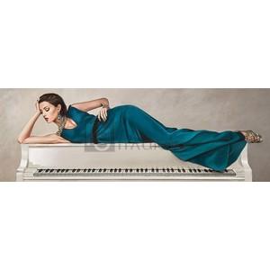 White Piano Lady