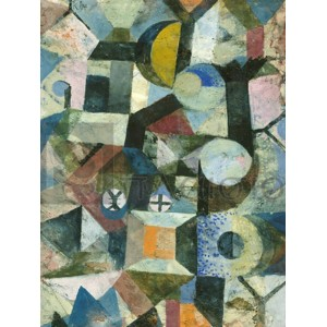 Paul Klee - Composition with the Yellow Half-Moon and the Y