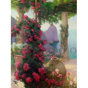 KARL MARIA SCHUSTER - The Terrace, Capri (detail)