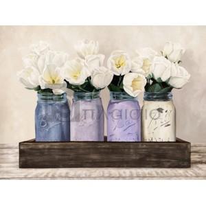 Jenny Thomlinson - Tulips in Mason Jars