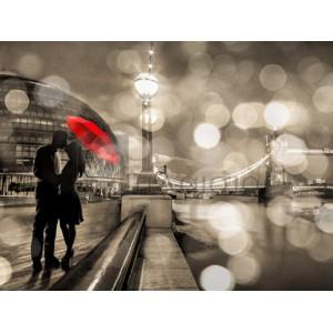 Dianne Loumer - Kissing in London (detail, BW)