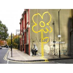 Banksy - Pollard Street, London (graffiti attributed to Banksy)