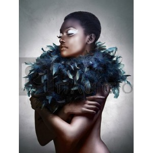 Julian Lauren - Woman with Feathered Scarf